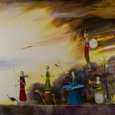 Ștefan Câlția: poveștile artistului în culoare și sunete, într-o expoziție unică - AlistMagazine Zeppelin, Surrealism, Inspiration, Image, Paintings, Ideas, Natural Person, Sculptures, Painting Art