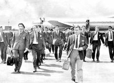 Russian team arrive at Newcastle airport○