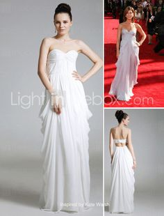 inspired by Kate Walsh @ Emmy Award, $147.  The drape of this dress is BEAUTIFUL in the purchaser-review uploaded pictures of them modeling the actual dress.  I think this one is my favorite, paired with a pretty sash/ribbon at waist.