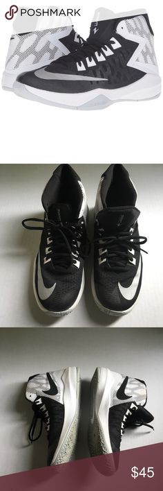 Nike Men's Zoom Devosion Basketball Shoes Nike Men's Basketball Shoes Style: Zoom Devosion Color: Black/Metallic Silver/White Width: D  Condition : Very light wear. Only worn indoors. See photos for details (first photo is a stock photo. All other photos are of actual item) Use the BUNDLE feature for discount.                                                                                      SHOP with confidence 🌟 5 STAR ratings Most items SHIP NEXT DAY. Nike Shoes Athletic Shoes