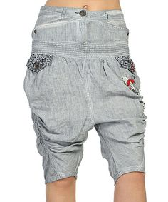 Love this Ice Gray Harem Shorts on #zulily! #zulilyfinds