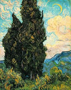 artists paintings claude monet Cypresses by Vincent van Gogh - Famous Art - Handmade Oil Painting on Canvas — Canvas Paintings Art Van, Paul Gauguin, Desenhos Van Gogh, Van Gogh Arte, Van Gogh Pinturas, Van Gogh Paintings, Henri Matisse, Renoir, Claude Monet