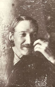 Robert Louis Stevenson. Cropped from a larger photograph.
