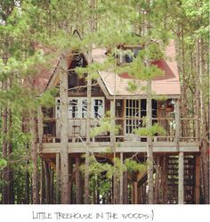 Gotta LOVE treehouses.  Check this one out.  http://www.lynneknowlton.com/our-treehouse/