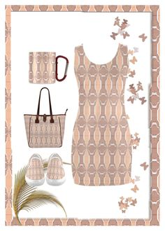 """""""Beige and Peach Print!"""" by flippintickledinc ❤ liked on Polyvore"""
