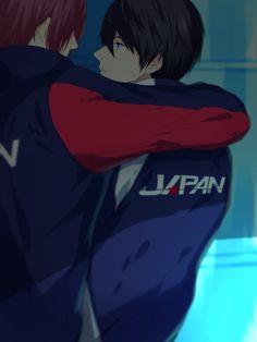 Rin and Haru swiming for Japan,