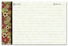 Recipe Stationery | Recipe Border Border recipe cards | Recipe ...