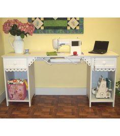 Homespun Olivia Sewing Cabinet-White fa0b612659