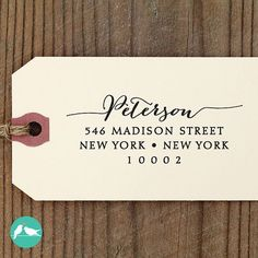 A personalized return address stamp will save you from writing out your info over and over again. | 19 Wedding Planning Hacks That Will Save You So Much Time And Money