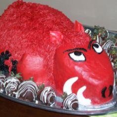 Razorback groom's cake