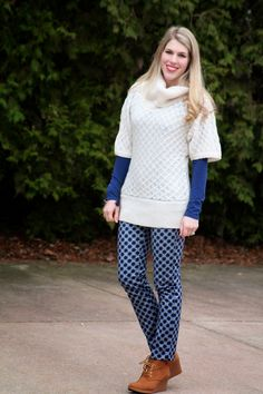 I do deClaire: Printed Pants in Winter by @lbambrick
