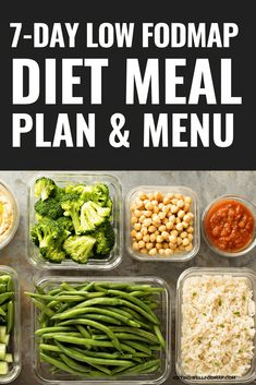 A Sample Menu Based on the Foods Recommended on a Low FODMAP Diet List Include glasses of water every day. and nutrition Low FODMAP Diet Meal Plan Detox Meal Plan, Diet Meal Plans, Fodmap Recipes, Diet Recipes, Flour Recipes, Clean Eating, Healthy Eating, Low Food Map Diet, Diet Menu