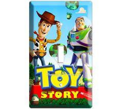 Woody Buzz Lightyear Toy story disney movie single light switch cover plate children room decor