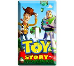 Woody Buzz Lightyear Toy story disney movie single light switch cover plate children room decor