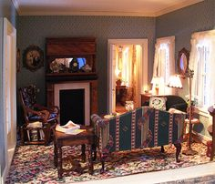 Pat's miniatures - Proctor Homestead, The family room