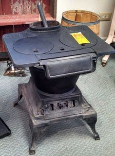 Vintage Stoves Army Cannon Heater 18 Wood Coal Pot