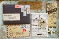 gorgeous invites from Martha's vineyard wedding via Tec Petaja
