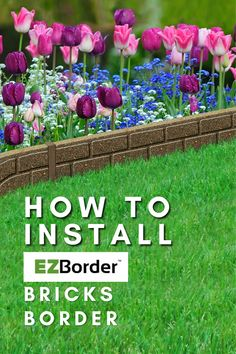 In this video, you will learn how to install the EZBorder UltraCurve garden border in Bricks, Sontes or Carolina design! Bricks is a decorative garden border that looks like etched stone. It's flexible and easily conforms to curves. Installs in minutes using a rubber mallet and spikes (included). Made from 98% recycled rubber, durable and long lasting. Brick Garden Edging, Garden Borders, Brick Border, Recycled Rubber, Spikes, Recycled Materials, Bricks, Eco Friendly