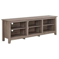 Buy the Delacora Driftwood Direct. Shop for the Delacora Driftwood Wide Laminate and Wood TV Stand with Open Storage and save. Open Shelving, Adjustable Shelving, 70 Inch Tv Stand, Farmhouse Tv Stand, Tv Stand With Storage, Living Room Essentials, Flat Panel Tv, Media Storage, Dvd Storage