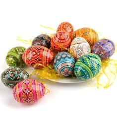 One Dozen Pysanky Eggs