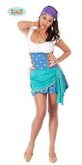 Voici un costume parfait si vous souhaitez incarner Esméralda, la belle héroïne du roman de Victor Hugo : Notre-Dame de Paris. Il ressemble comme deux gouttes d'eau à la version de Disney, mais en beaucoup plus sexy !