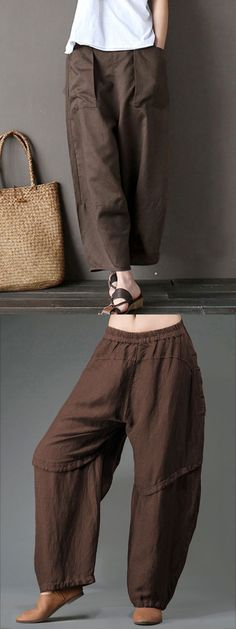 [ Up to 51% OFF! ] Casual Wide Leg Elastic Waist Pants For Women.  Spring, Summer, Autumn and Winter, best choice bottoms.