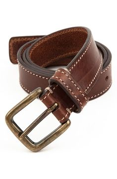 Trafalgar 'Connor' Leather Belt available at Get stunning leather belts at off wholesale price Best Leather Belt, Custom Leather Belts, Leather Men, Vintage Leather, Tommy Hilfiger Wallet, Leather Fashion, Mens Fashion, Designer Belts, Leather Projects