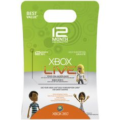 Rakuten/Buy.com Coupon: $15 off $50 Sitewide: 12-Month Xbox Live Gold Membership Card $35