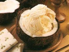 Helado de coco sin gluten, sin leche y sin huevo