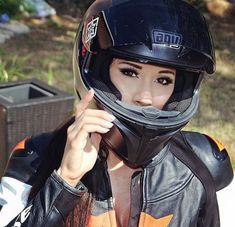 Hot women in motorcycle leathers. Now accepting submissions! Motorcycle Leather, Motorcycle Outfit, Motorcycle Girls, Lady Biker, Biker Girl, Dirt Bike Girl, Biker Chick, Bike Life, Sport Bikes