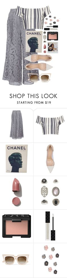 """""""If you go,I go"""" by assmaal ❤ liked on Polyvore featuring ADAM, Topshop, Chanel, Gianvito Rossi, NARS Cosmetics, Gucci, self-portrait and Umbra"""