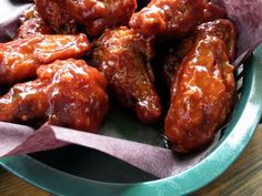 Tender, sticky wings in a homemade spicy honey-barbecue sauce. If a sweeter sauce is desired, skip the Tabasco.