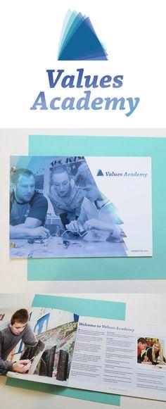 Brand Identity for Values Academy secondary school in Birmingham #brandidentity #prospectus #theusualstudio