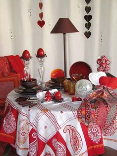 decoración para la mesa de navidad.
