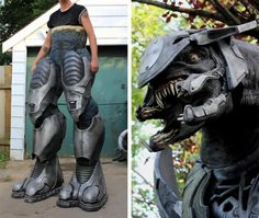 Awesome 7foottall Halo Elite Costume