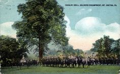 Cavalry Drill. Mt. Gretna PA