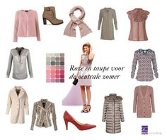 """Roze en taupe voor de neutrale zomer. Soft summer: pink and taupe."" by roorda on Polyvore featuring mode en Basler"