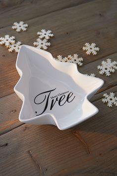 Merry Christmas Tree Bowl M