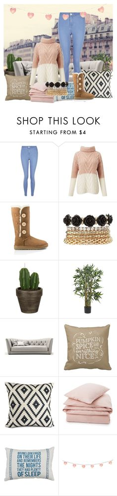 """""""Tv and hot coco"""" by sweetie-pie77 on Polyvore featuring New Look, Miss Selfridge, UGG Australia, Charlotte Russe, John Lewis and Lexington"""