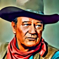 John Wayne, Vintage Hollywood Legend. Digital Art by Mary Bassett
