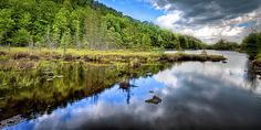 #ADK#Adirondacks#OldForge - A Spring Day at Bald Mountain Pond in Old Forge, New York.