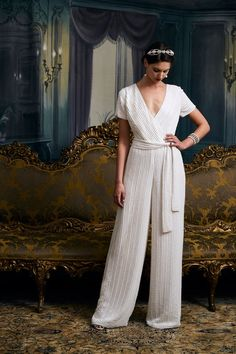 Wedding jumpsuits are a cool alternative to traditional bridal style. Dress it up or down, depending on your venue of choice