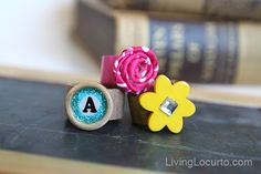 Repurposed cardboard #crafts - DIY Rings. Designed by Amy Locurto at LivingLocurto.com