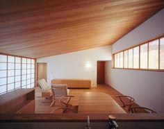 Yashima architect and associates Japanese Home Design, Japanese Style House, Japanese Interior, Modern Interior, Interior Design, Minimal House Design, Minimal Home, Japan Design, Modern Architecture House