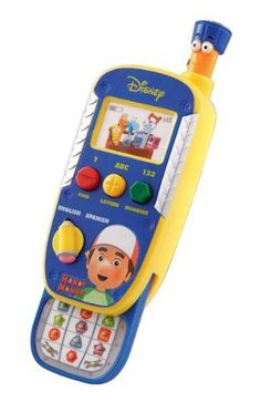 VTech - Handy Manny - Manny's Learning Phone by V Tech. $15.99. From the Manufacturer                Dial up the fun with Manny's Learning Phone! As your child plays and talks with the characters from their favorite show, they'll get lessons in Spanish, numbers, letters and shapes. Your child can learn Spanish, numbers, letters and shapes with characters from the hit show, Handy Manny! Manny's Learning Phone allows your child to interact with one of their favorite TV characters,...