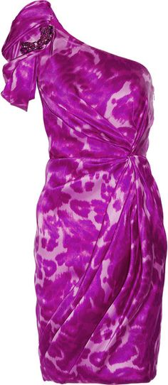Marchesa Printed Silktwill Dress   dressmesweetiedarling