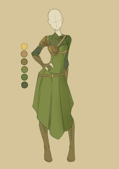 Fantasy Outfit Ideas pin samantha clark on costumes anime outfits character Fantasy Outfit Ideas. Here is Fantasy Outfit Ideas for you. Fantasy Outfit Id. Dress Sketches, Fashion Sketches, Character Outfits, Character Art, Anime Outfits, Cool Outfits, Kleidung Design, Elf Clothes, Wood Elf