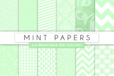 Mint Papers by La Boutique dei Colori on Creative Market