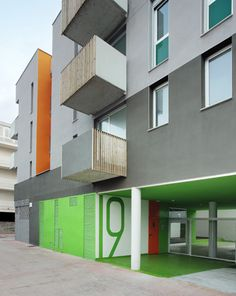 25 social housing for young people Social Housing, Residential Architecture, Young People, Andorra, Balconies, Color, Buildings, Spain, Design