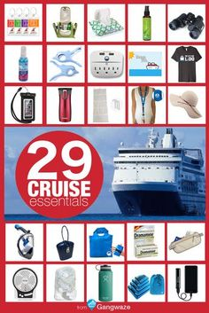 Wondering what to pack for a cruise? Here are 29 Cruise Essentials! Cruise Ships from Norwegian Cruise Line Packing List For Cruise, Cruise Travel, Cruise Vacation, Vacations, Cruise Checklist, Cruise Trips, Cruise Excursions, Packing Lists, Carnival Cruise Tips